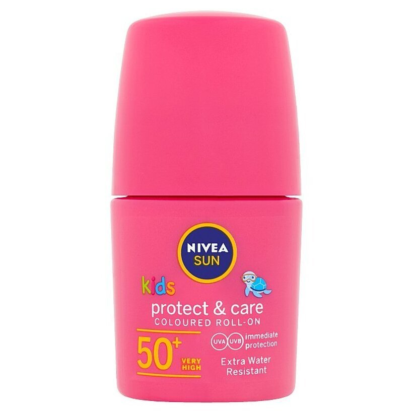 Nivea Sun Protect & Care Detské farebné mlieko na opaľovanie v guľôčke OF 50+ 50 ml