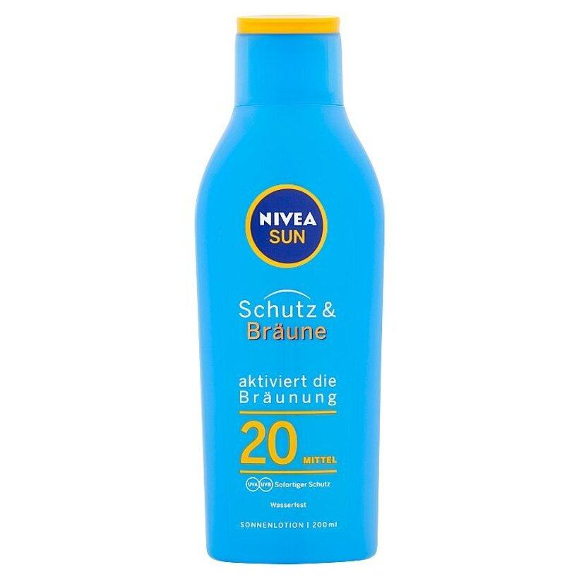 Nivea Sun Mlieko na opaľovanie podporujúce zhnednutie OF 20 200 ml