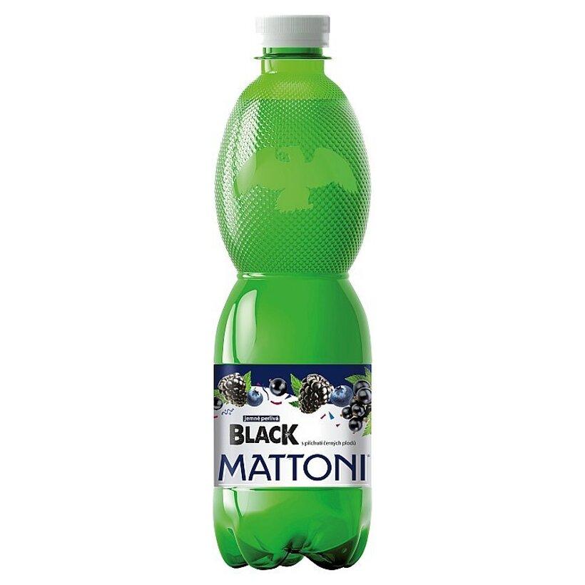 Mattoni Black nealkoholický nápoj pripravený z prírodnej vody s príchuťou čiernych plodov 0,5 l