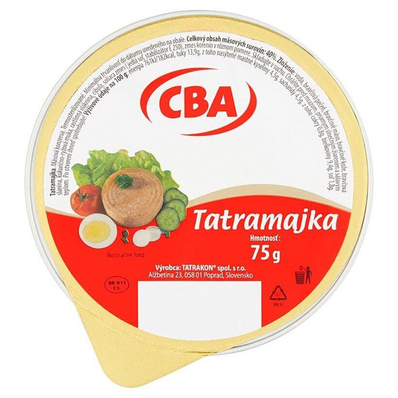 CBA Tatramajka 75 g