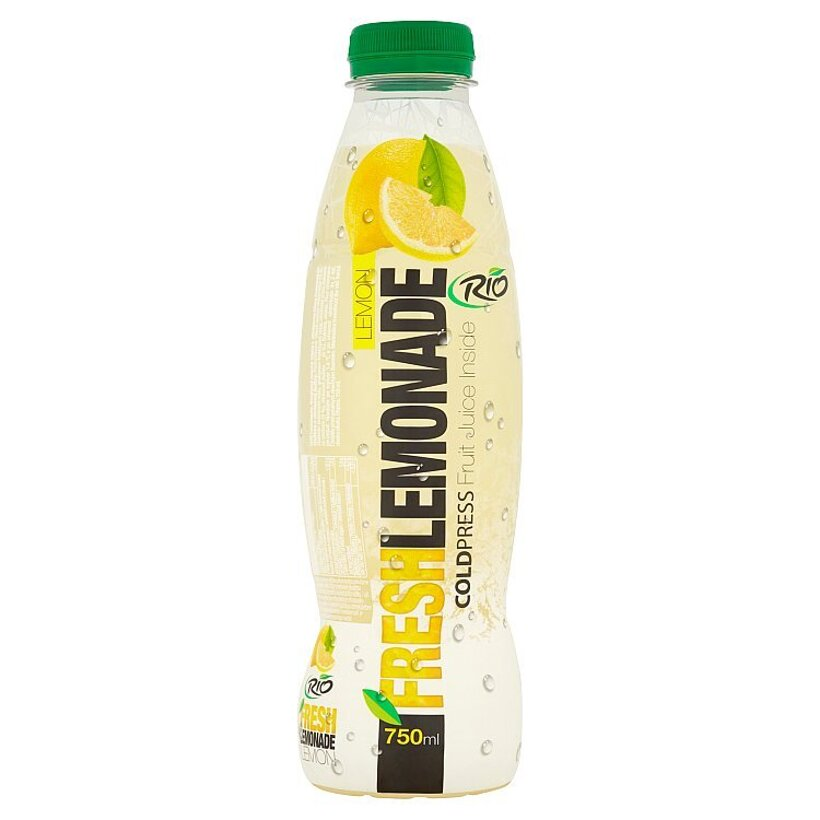 RIO FRESH Lemonade nesýtený ovocný nápoj z citrónovej šťavy lisovanej za studena a dužiny 750 ml