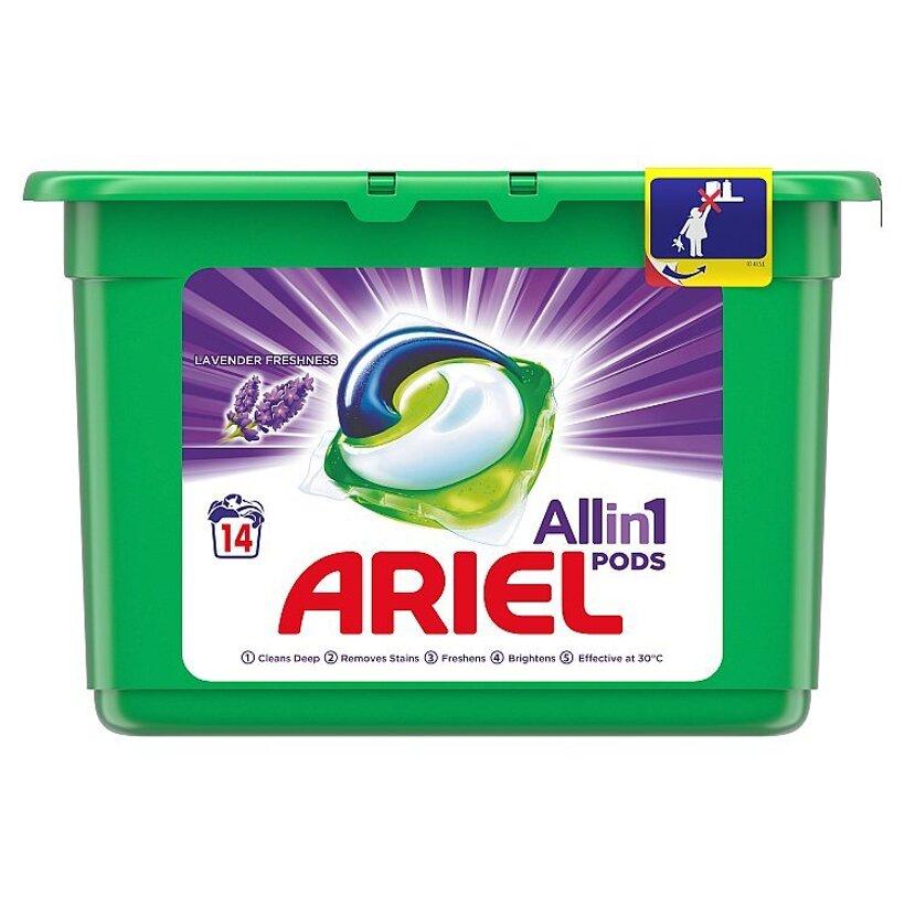 Ariel All In 1 Pods Lavender, Gélové Kapsuly Na Pranie, 14 Praní