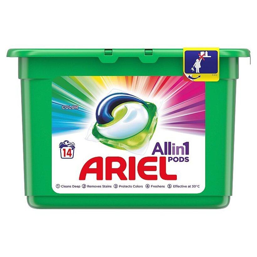 Ariel All In 1 Pods Color, Gélové Kapsuly Na Pranie, 14 Praní