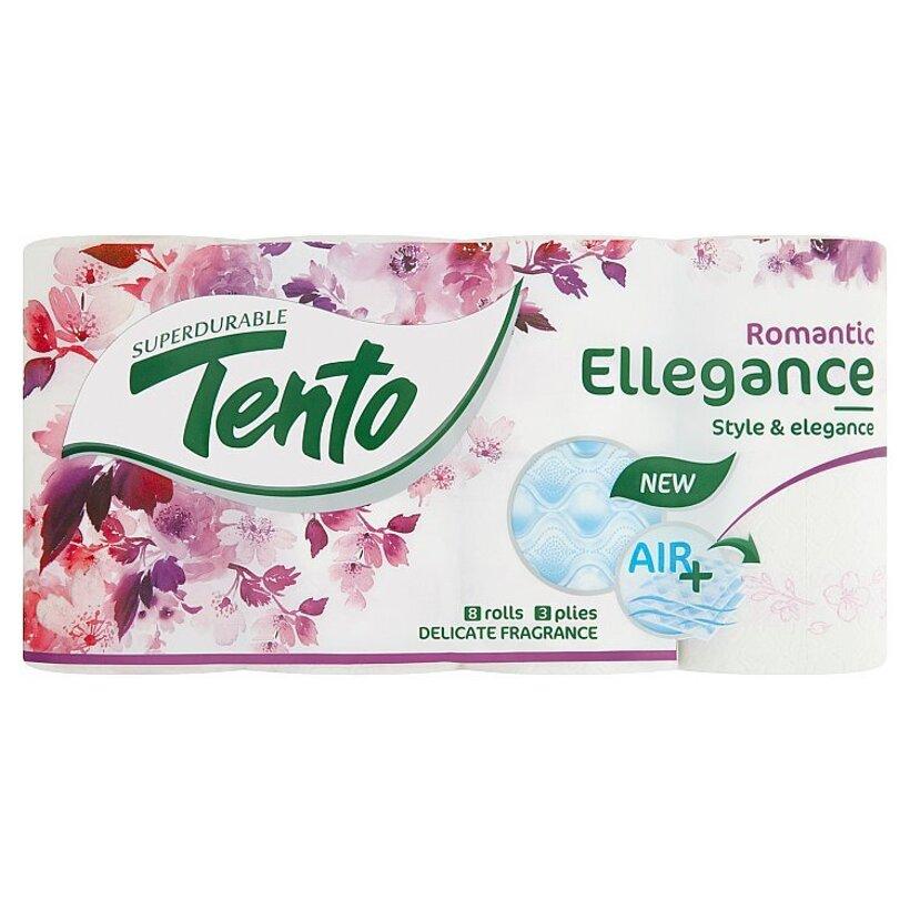 Tento Ellegance Romantic toaletný papier 3 vrstvy 8 kotúčov