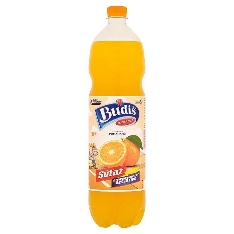 Budiš S príchuťou pomaranč 1,5 l