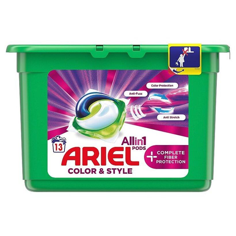 Ariel All In 1 Pods +Complete Fiber Care Gélové Kapsuly Na Pranie 13 Praní