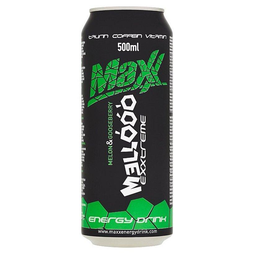 Maxx Exxtreme Mellóóó sýtený energetický nápoj s príchuťou melónu a egreša 500 ml