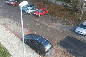 Parkovanie dodavok na sidlisku