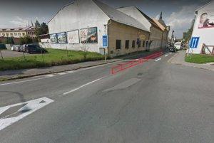 Nerešpektovanie plnej čiary na križovatke ulíc T.G. Masaryka, J. Jiskru a Hlbiny