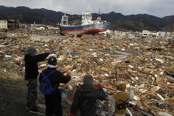 The post-quake tsunami destroyed whole towns.