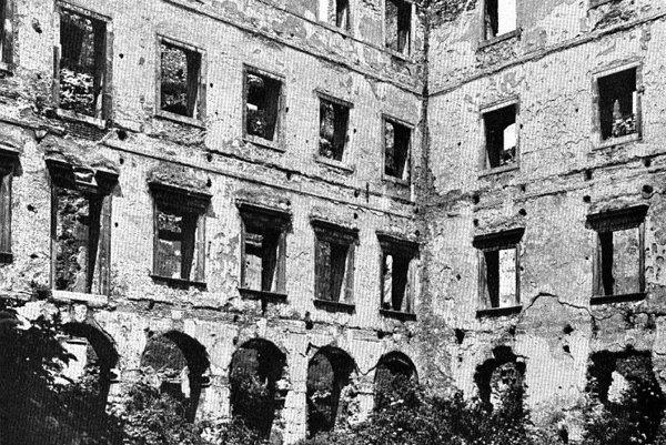 Bratislava Castle, after the fire.