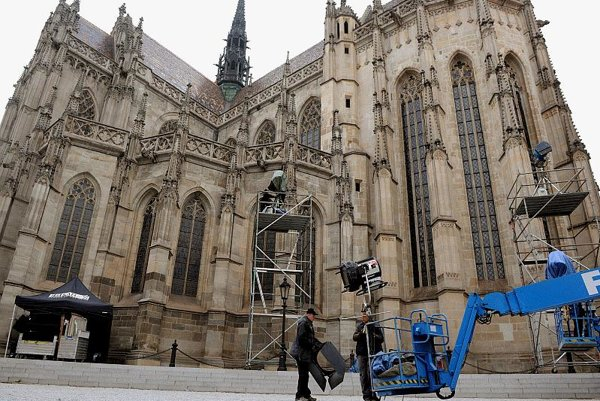 Screen star: The Gothic Cathedral of St Elisabeth in Košice.
