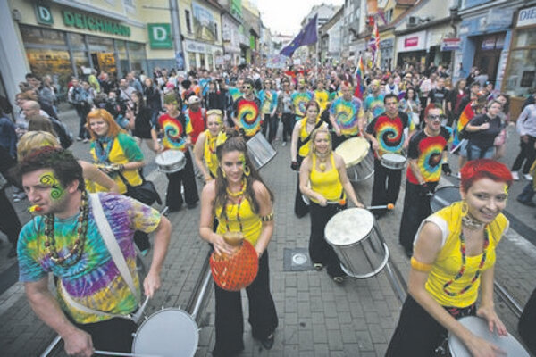 Rainbow Pride paraders filled Bratislava's streets.