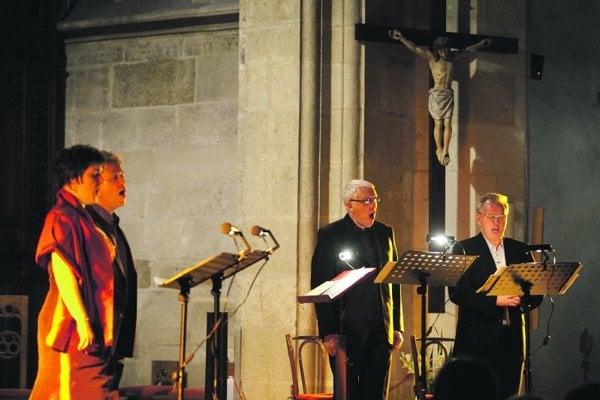 The Hilliard Ensemble at St Martin's.