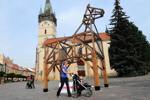 The horse erected in downtown Prešov was later moved.