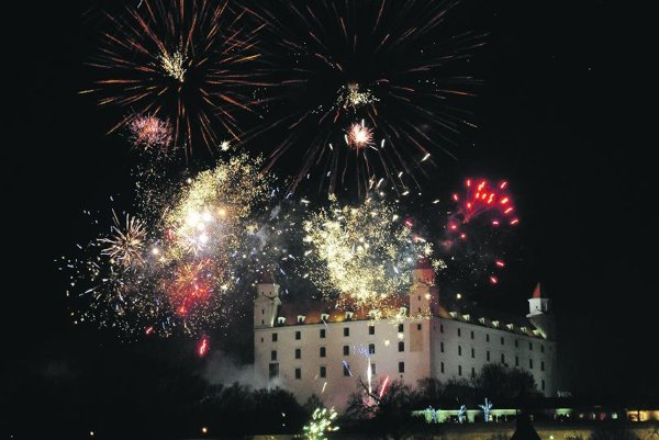 Bratislava welcomed 2013 with fireworks.