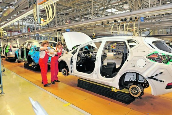 Car manufacturing was a big component of export.