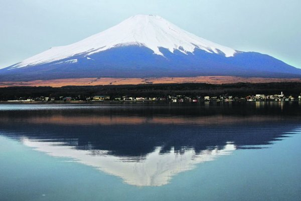 Mount Fuji, an iconic symbol of Japan.