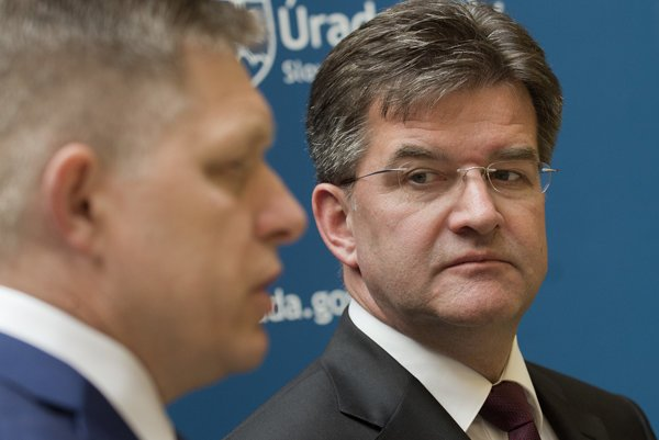 Government of PM Robert Fico (left) endorses Lajčák as its official candidate.
