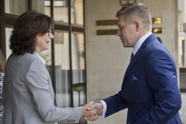 Justice Minister Lucia Žitňanská and Prime Minister Robert Fico.