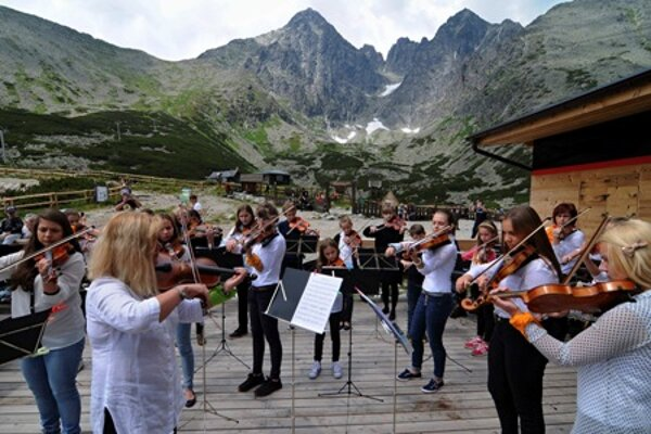 The violin cocnert at Skalnaté Pleso