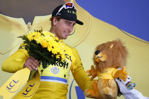Sagan got also a yellow jersey for the 2nd stage of Tour de France.