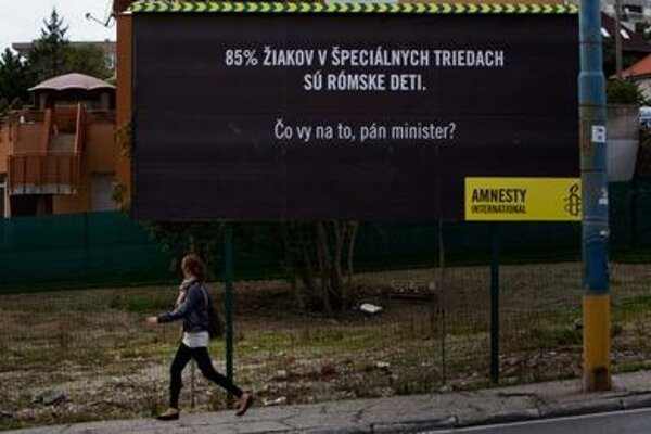 Billboard of Amnesty International Slovensko