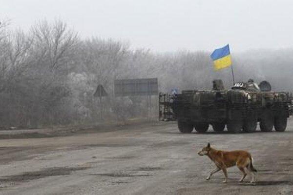 Conflict flaring in Ukraine, illustrative stock photo.