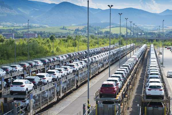Most cars produced in Slovakia head for export.