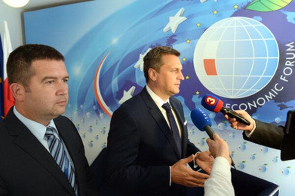 L-R: Czech Parliamentary Chamber of Deputies Chairman Jan Hamáček and Slovak Speaker of Palriament Andrej Danko in Krynica.