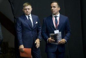 L-R: PM Robert Fico with Erik Tomáš