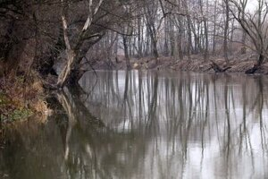 The Ipeľ river, illustrative stock photo
