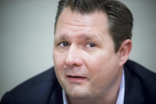 Dirk Ahlborn, CEO of the company Hyperloop Transportation Technologies which develops hyperloop technology.