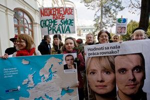 Slovak women protested against discrimination, illustrative stock photo.
