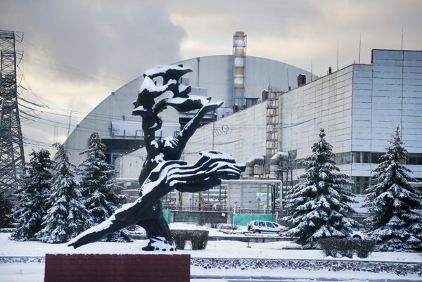 The exploded nuclear reactor Chernobyl