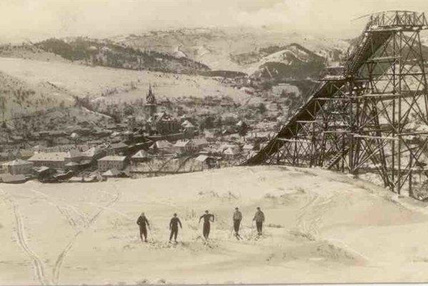 Beginings of skiing in Kremnica...