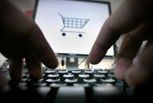 Shopping online, illustrative stock photo.