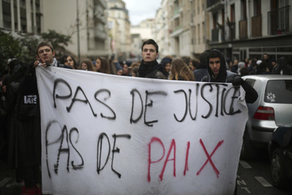 Protests in France, February 28.