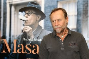 Karel Roden (Jan Masaryk) at the press conference preceding the launch of the the Masaryk movie in Slovak cinemas.