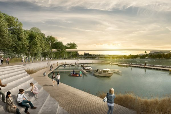 There may be a marina, a river beach and more at the New Lido.