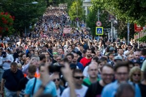 Anti-corruption marches are organised, llustrative stock photo