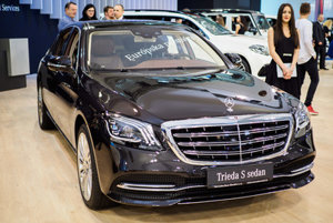 Mercedes-Benz,S-class, sedan at the Motor Show Bratislava 2017.