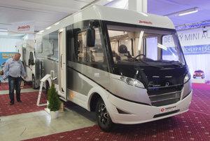 Caravan Dethleffs at 27. Motor Show Bratislava, April 27.