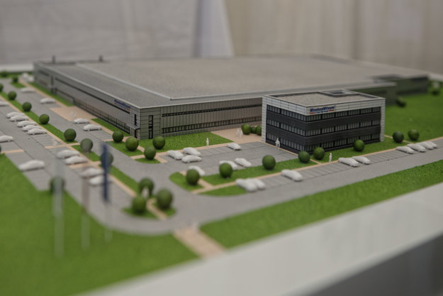 The model of the future plant of MinebeaMitsumi in Košice.