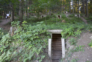 Underground shelters at the Dukla WWII battleground.