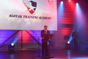 MSM Group managing director Marián Goga at the opening ceremony of the Slovak Training Academy.
