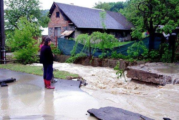 Flood in Klieština
