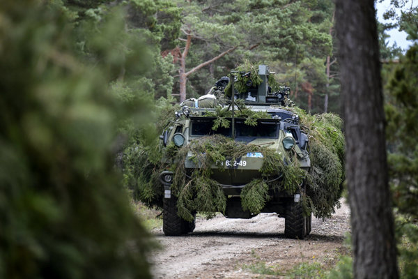Patria vehicles, illustrative stock photo