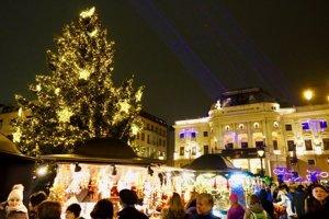 Christmas market in Hviezdoslavovo Square