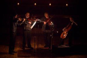 Brodsky Quartet performing Shostakovich in Bratislava, 2016.